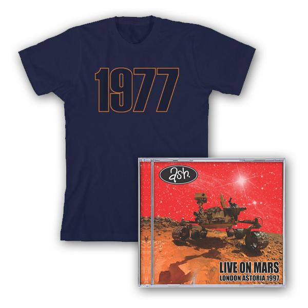 Buy Online Ash - Live On Mars CD + 1977 T-Shirt