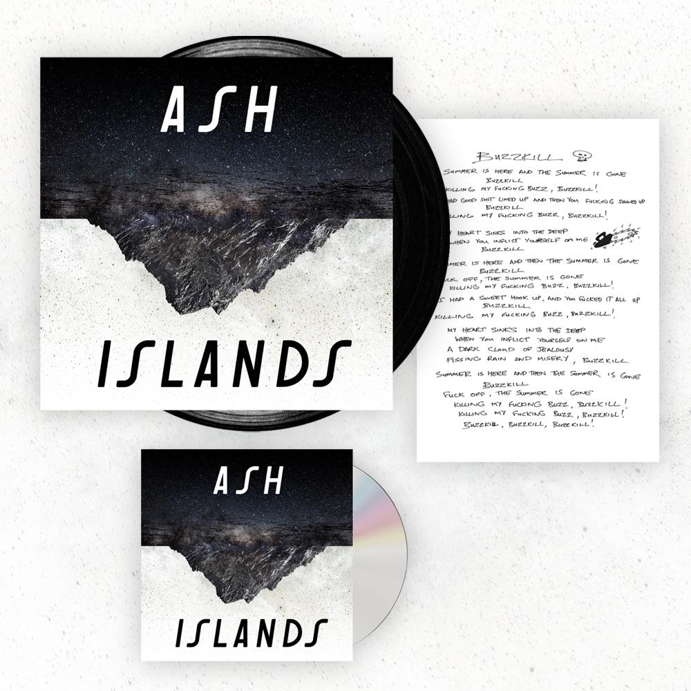 Buy Online Ash - Islands CD (Signed) + Black Vinyl LP + Signed Lyric Sheet
