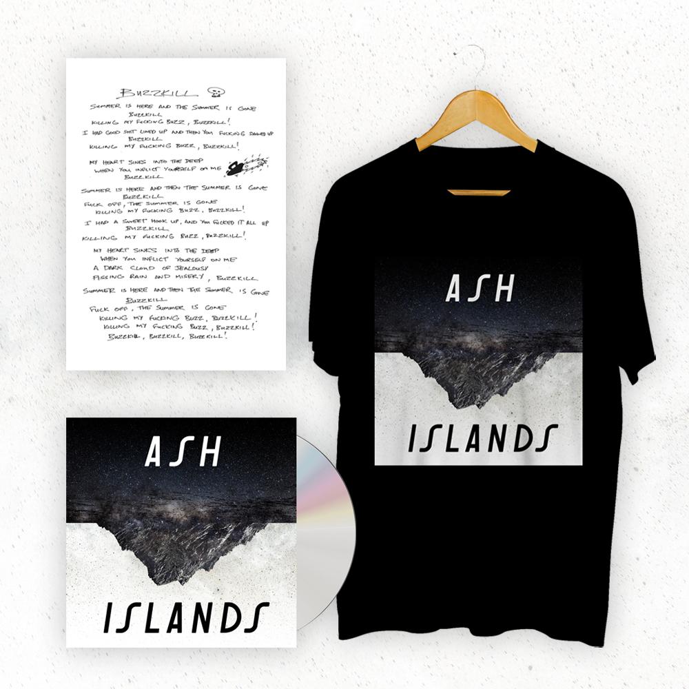 Buy Online Ash - Islands CD (Signed) + T-Shirt + Signed Lyric Sheet