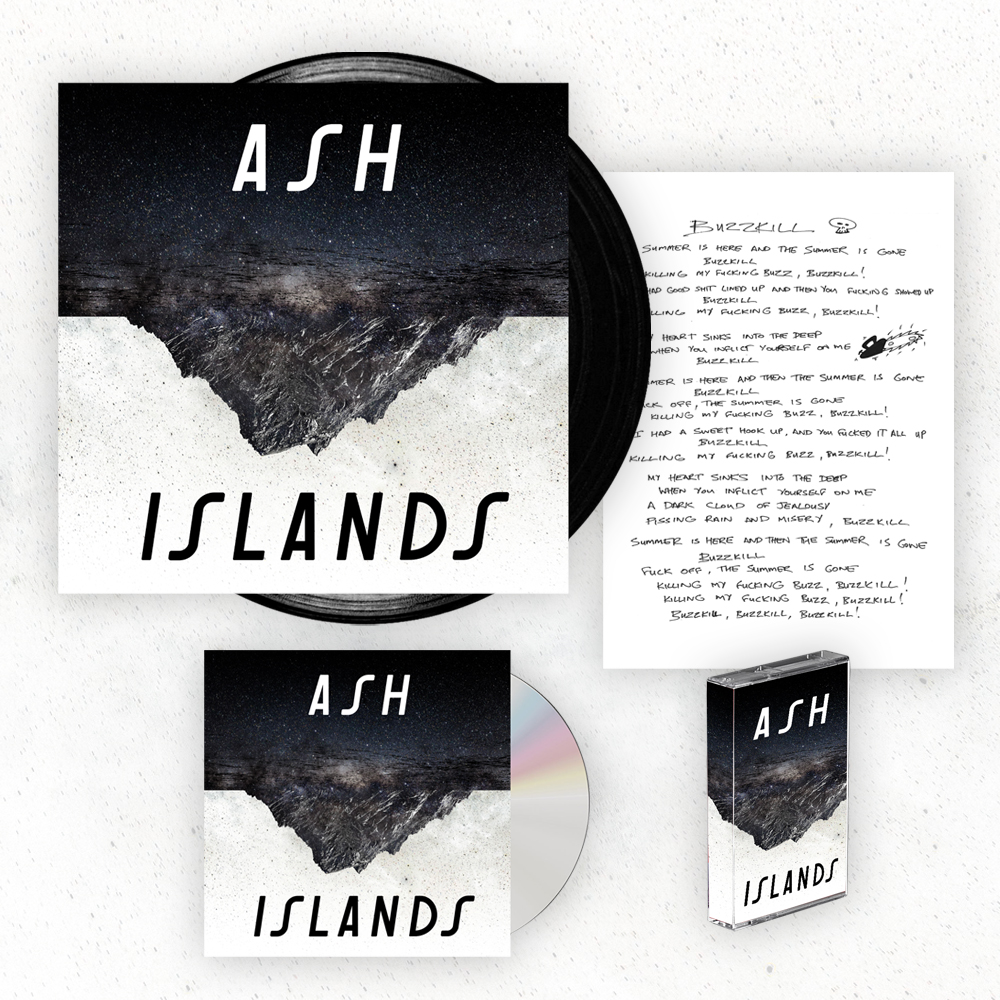 Buy Online Ash - Islands CD (Signed) + Black Vinyl LP (Signed) + Cassette + Signed Lyric Sheet