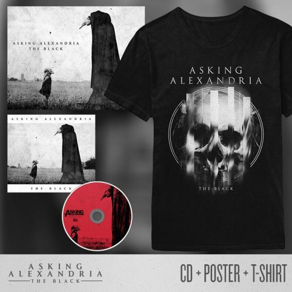 Buy Online Asking Alexandria - The Black CD + Poster + Black T-Shirt Bundle