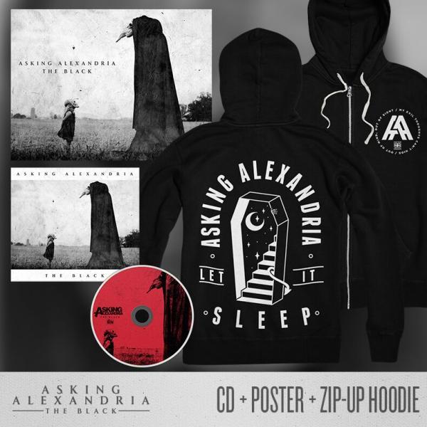 Buy Online Asking Alexandria - The Black CD + Poster + Hoody Bundle
