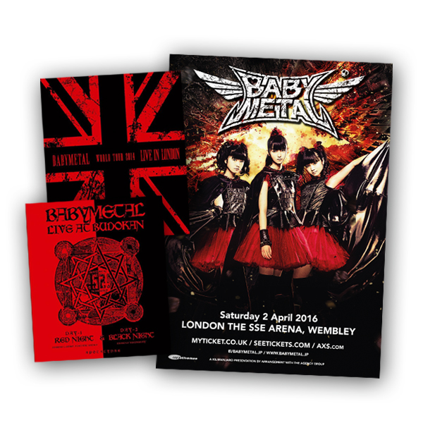 Buy Online Babymetal - Live In London DVD + Live At Budokan DVD + Print