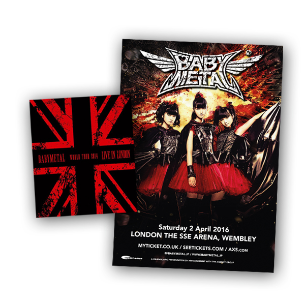 Buy Online BABYMETAL - Live In London DVD + Print