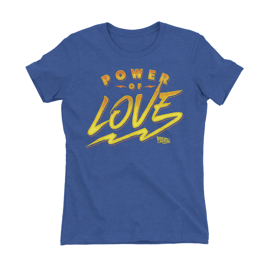 Buy Online Back To The Future The Musical - Women's Power of Love T-Shirt