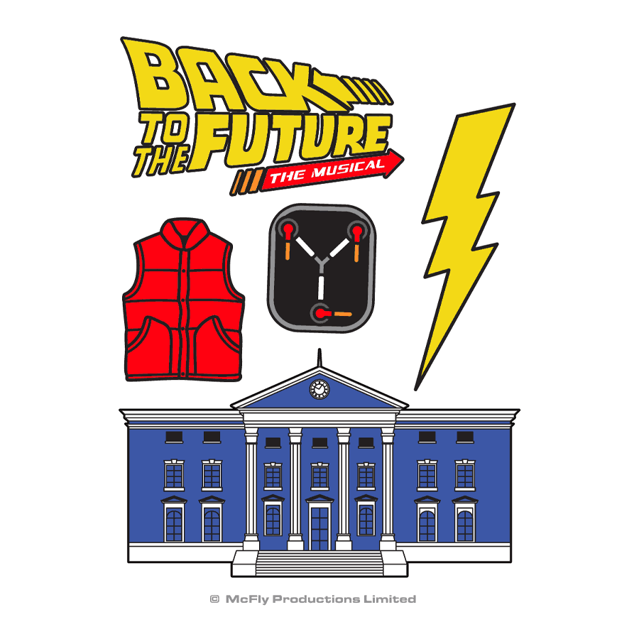 Buy Online Back To The Future The Musical - Tattoo Set