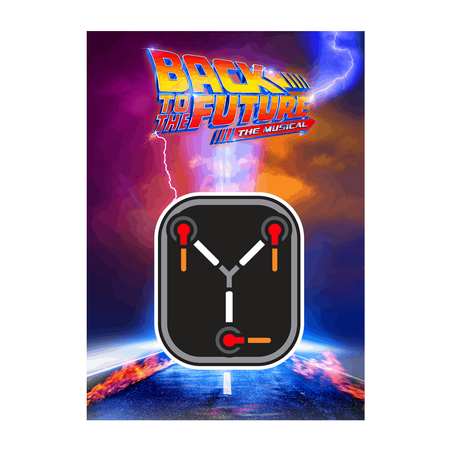 Buy Online Back To The Future The Musical - Flux Capacitor Decal