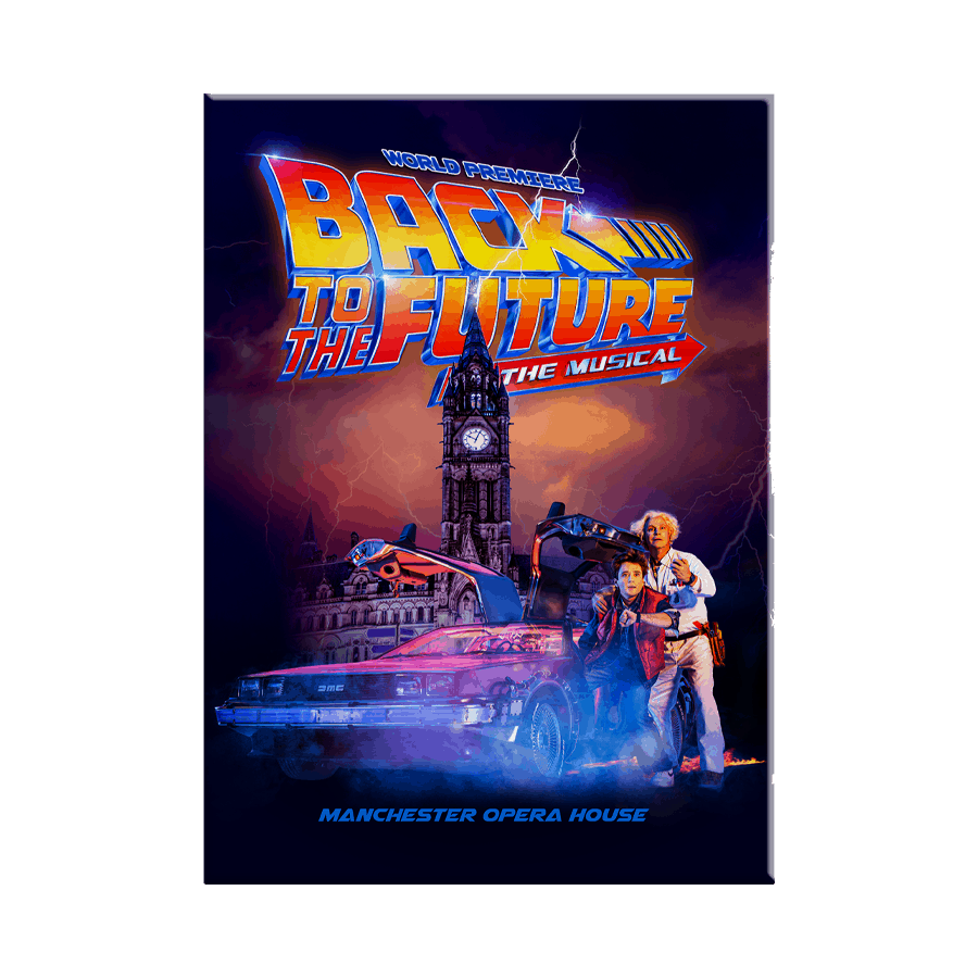 Buy Online Back To The Future The Musical - Logo Magnet