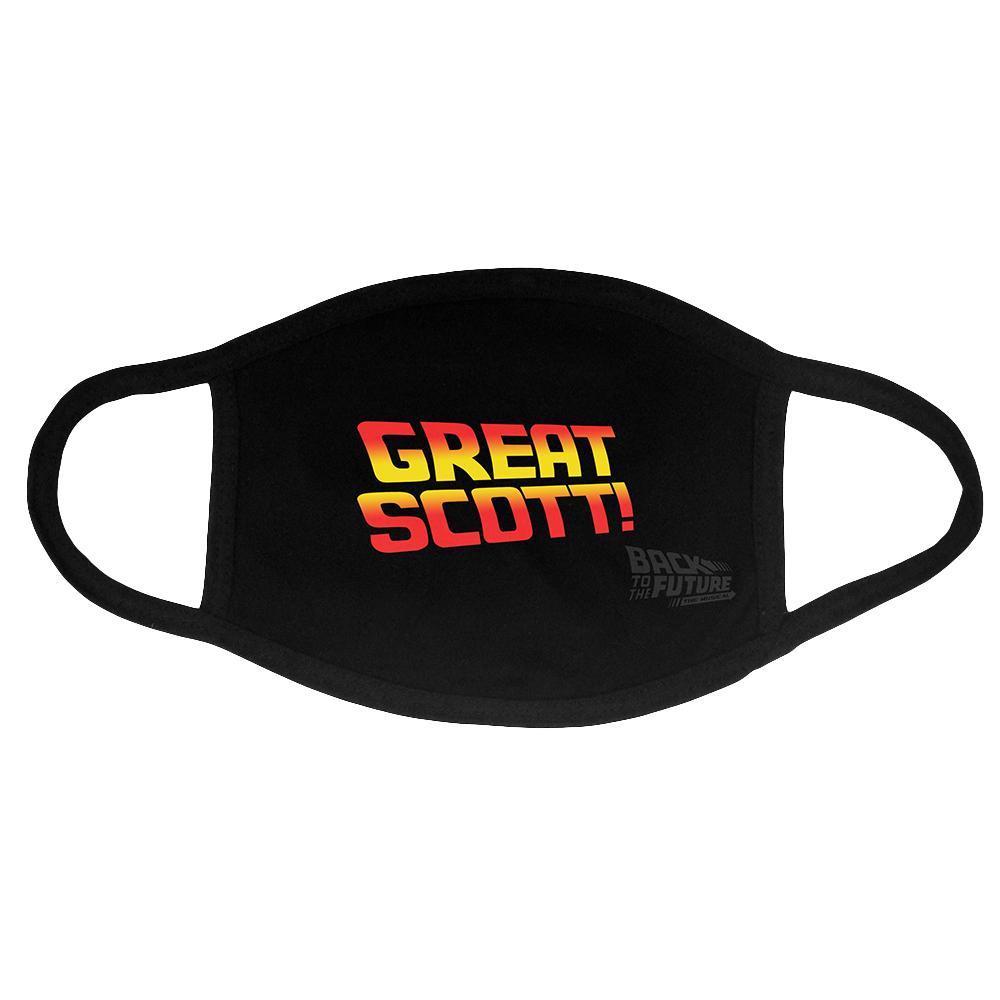 Buy Online Back To The Future The Musical - Great Scott Face Mask