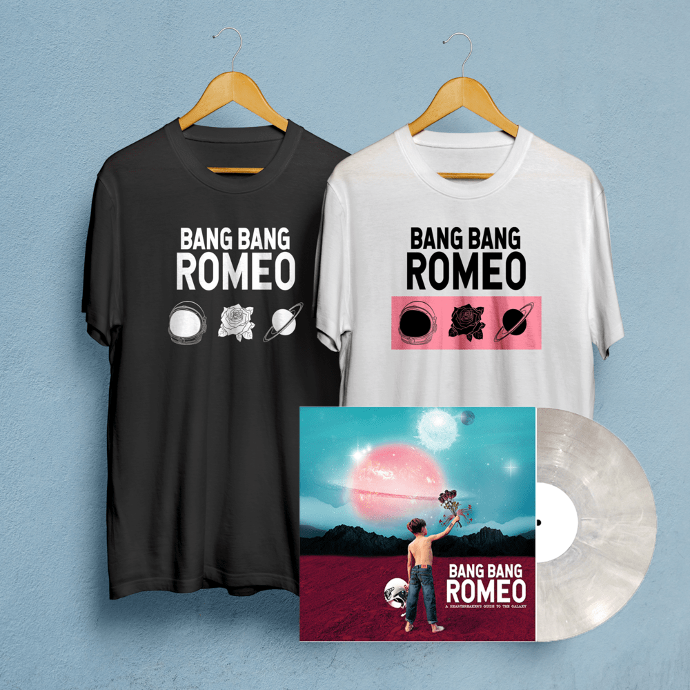 Buy Online Bang Bang Romeo - A Heartbreakers Guide To The Galaxy Vinyl + T-Shirt