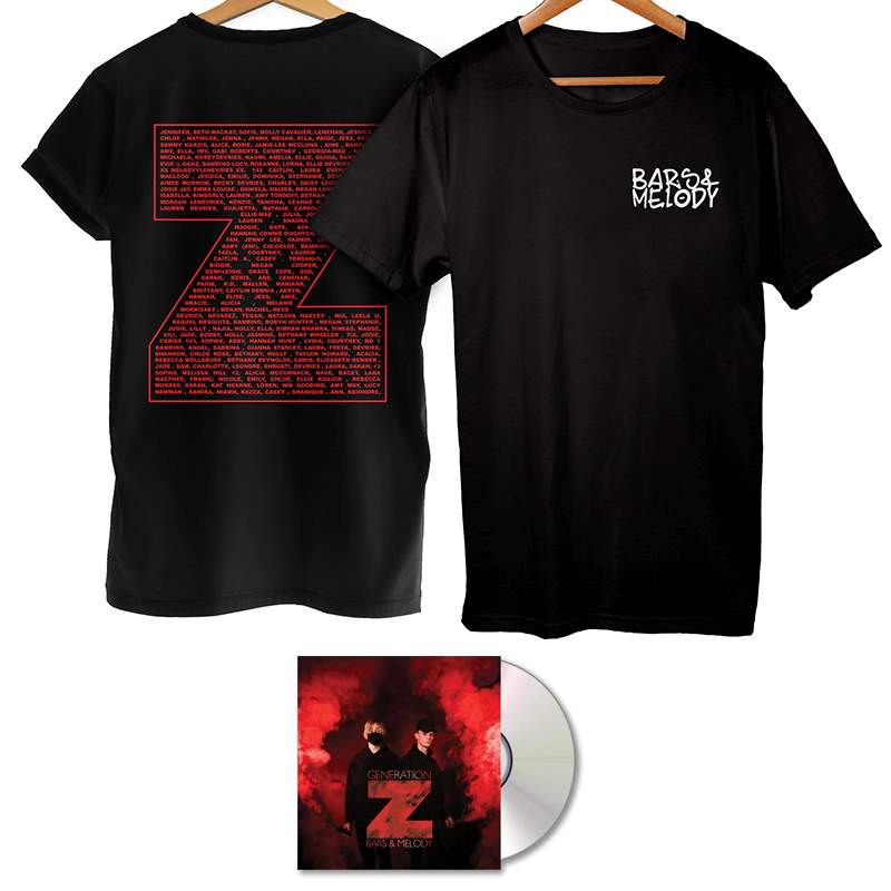 Buy Online Bars & Melody - Generation Z (Signed CD) & T-Shirt With Name On Back