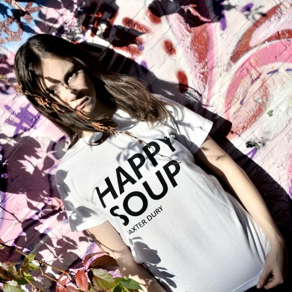 Buy Online Baxter Dury - Black & White Happy Soup T-Shirt