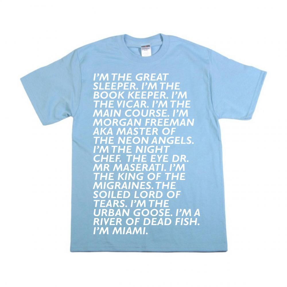 Buy Online Baxter Dury - Miami Verse T-Shirt