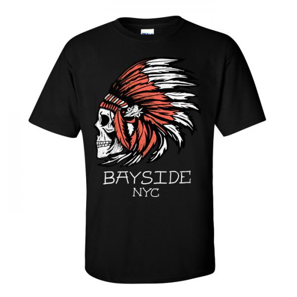 Buy Online Bayside - Indian Skull T-Shirt
