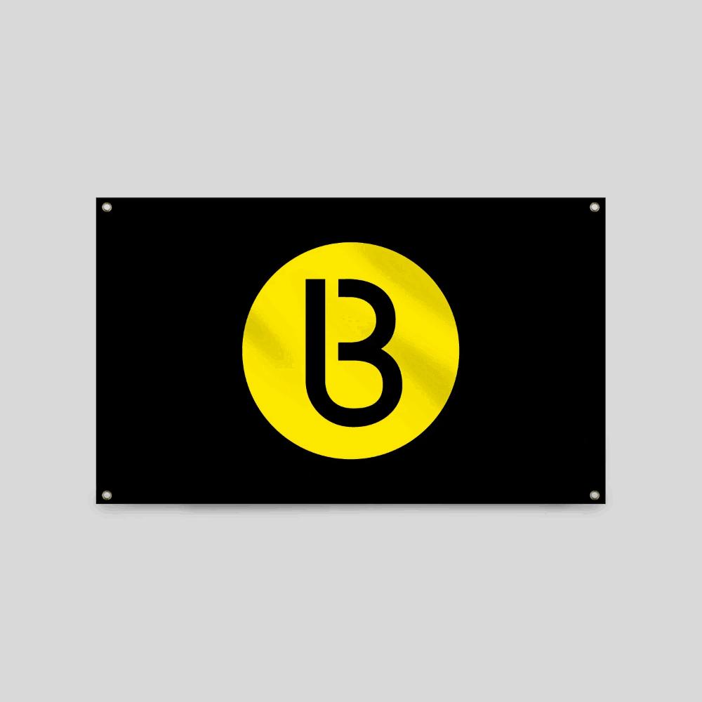 Buy Online Bedrock Music - Bedrock Classic B Flag (Yellow)
