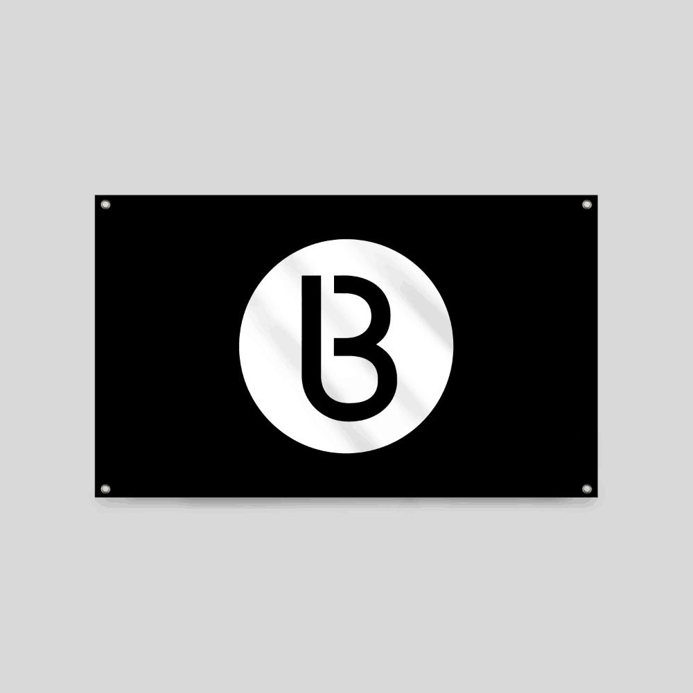Buy Online Bedrock Music - Bedrock Classic B Flag (White)