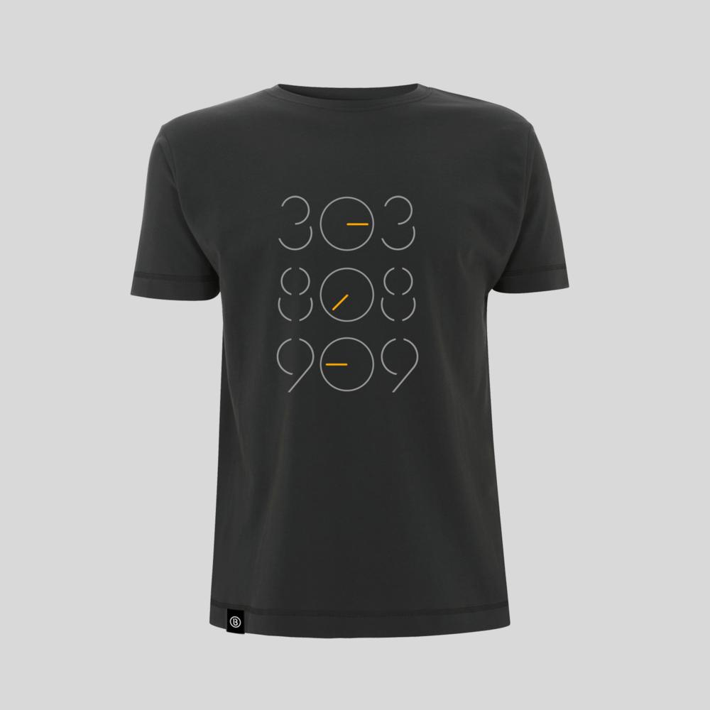 Buy Online Bedrock Music - Dark Grey 303 808 909 T-Shirt