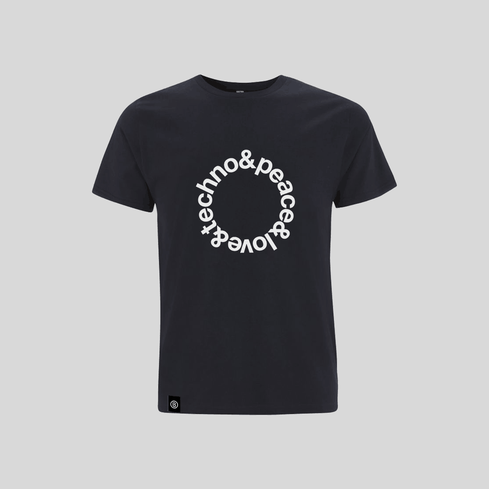 Buy Online Bedrock Music - Navy Blue Techno T-Shirt