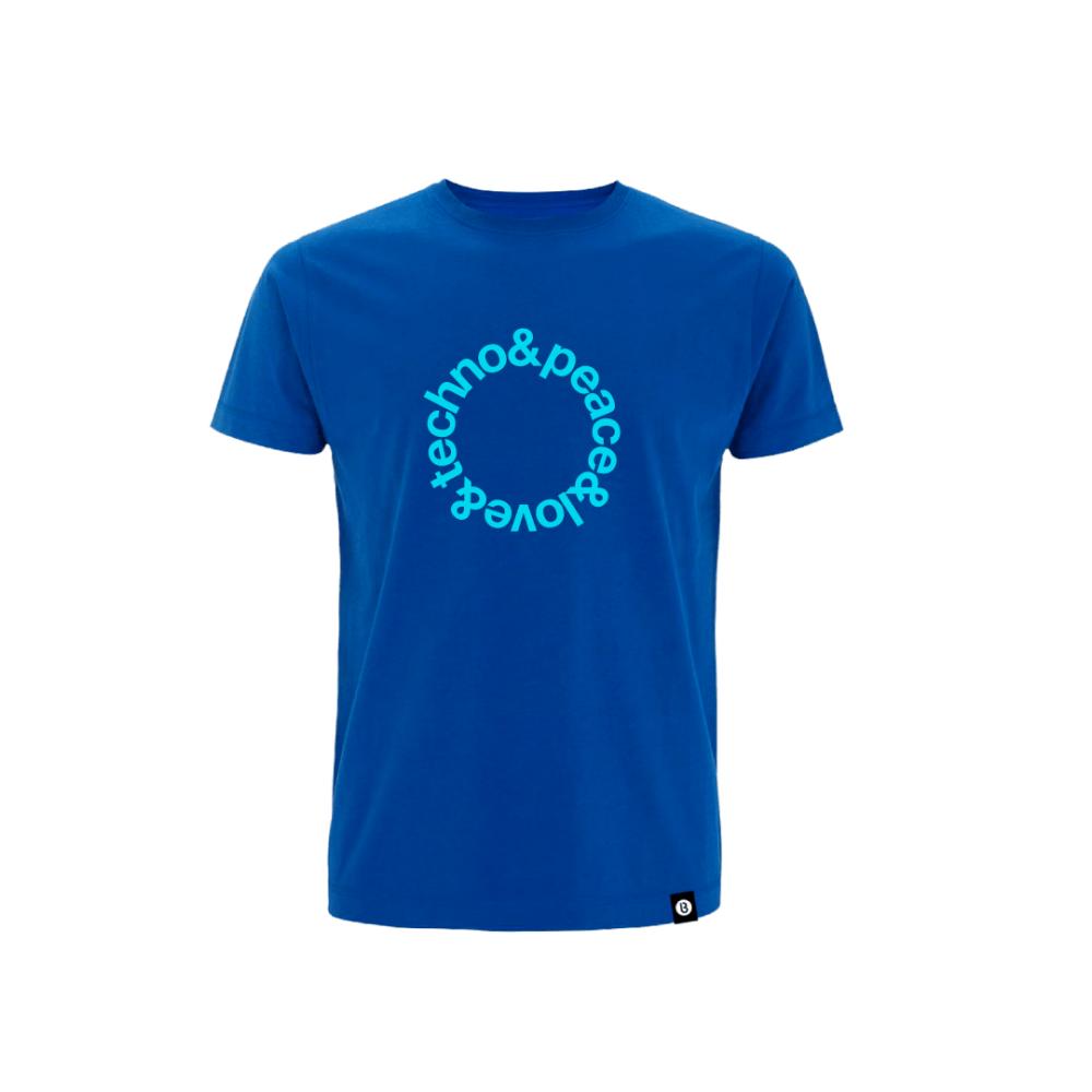Buy Online Bedrock Music - Blue Techno T-Shirt
