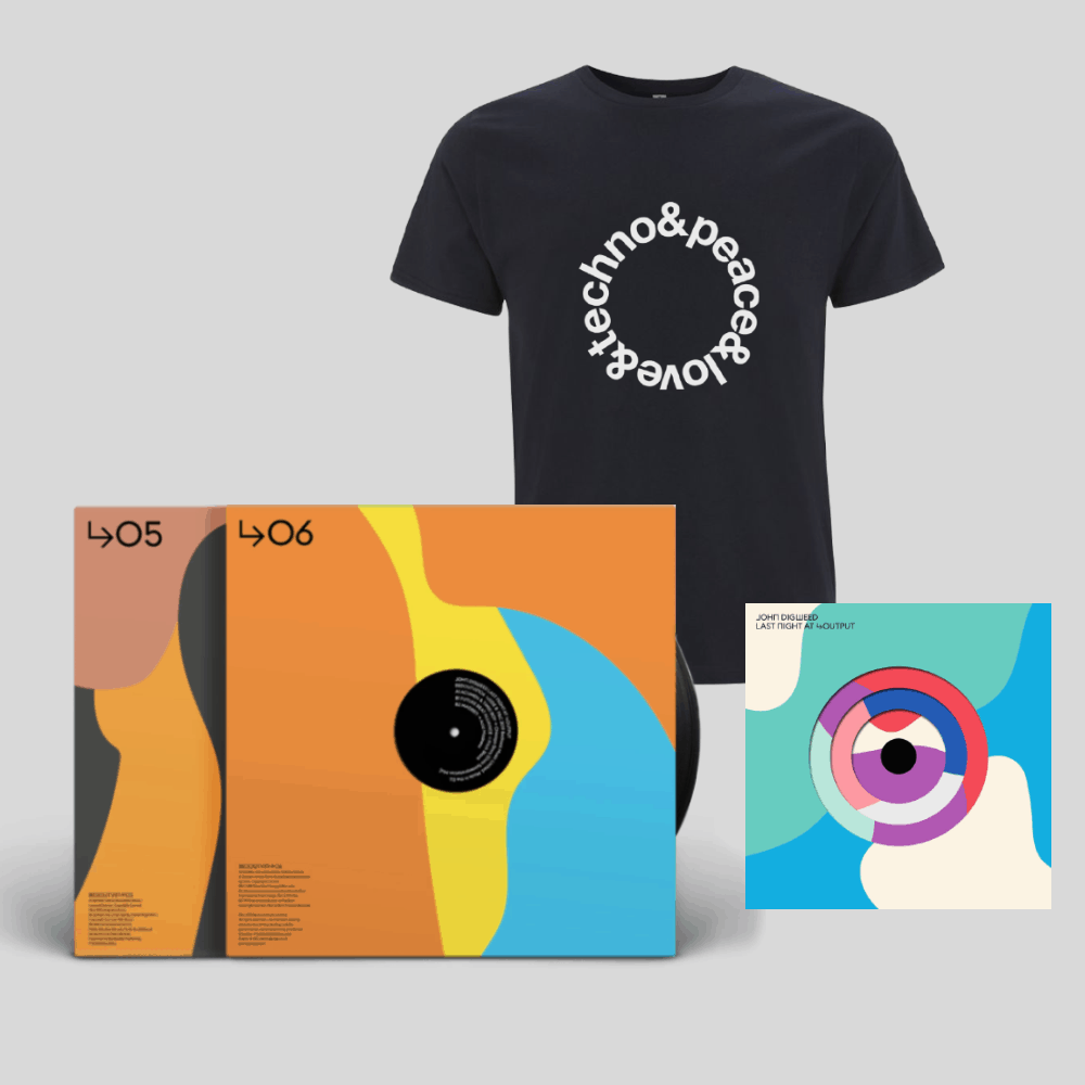 Buy Online John Digweed - New Last Night at Output 6 CD & Parts 5 & 6 Double Vinyl & Navy Blue Techno T-Shirt