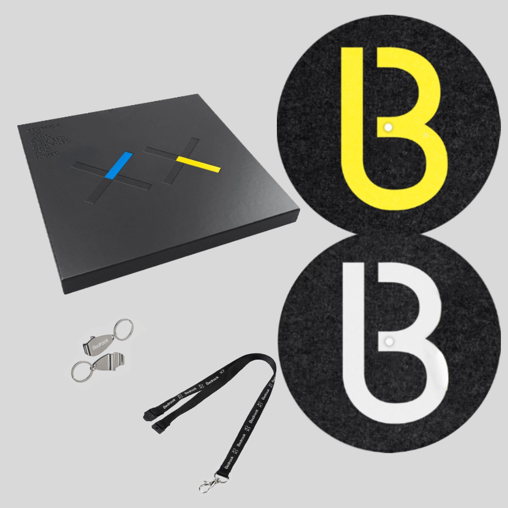 Buy Online John Digweed - Bedrock XX Deluxe Vinyl & CD Box Set & Lanyard & Keyring & B Slipmats (Pair)