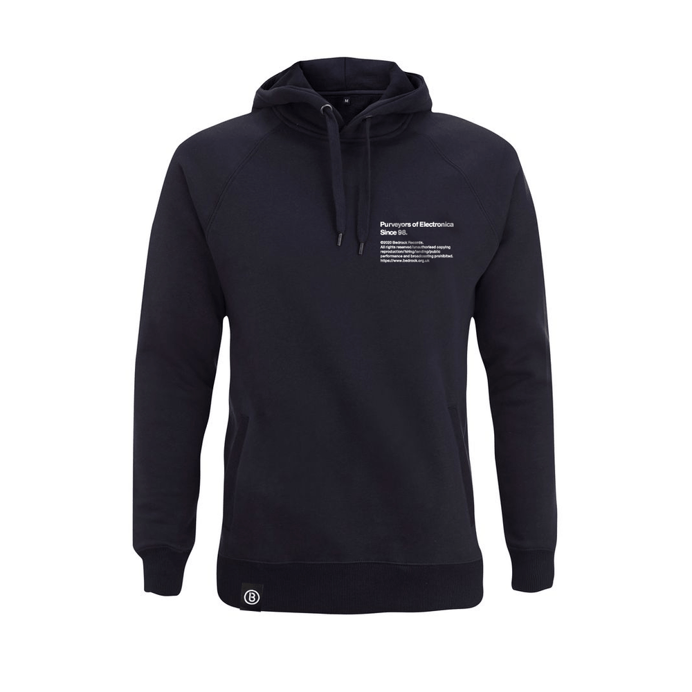 Buy Online Bedrock Music - BED_ELECTRONICA Navy Hoody