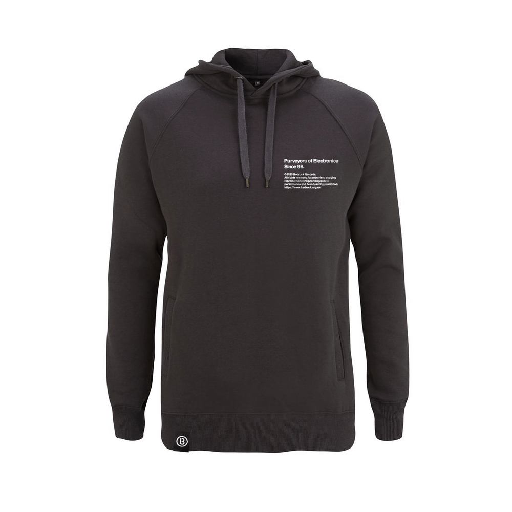 Buy Online Bedrock Music - BED_ELECTRONICA Dark Grey Hoody