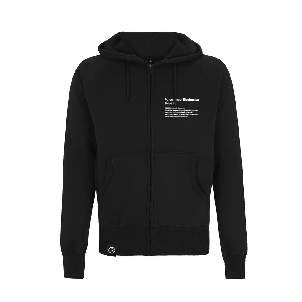Buy Online Bedrock Music - BED_ELECTRONICA Black Zip Hoody