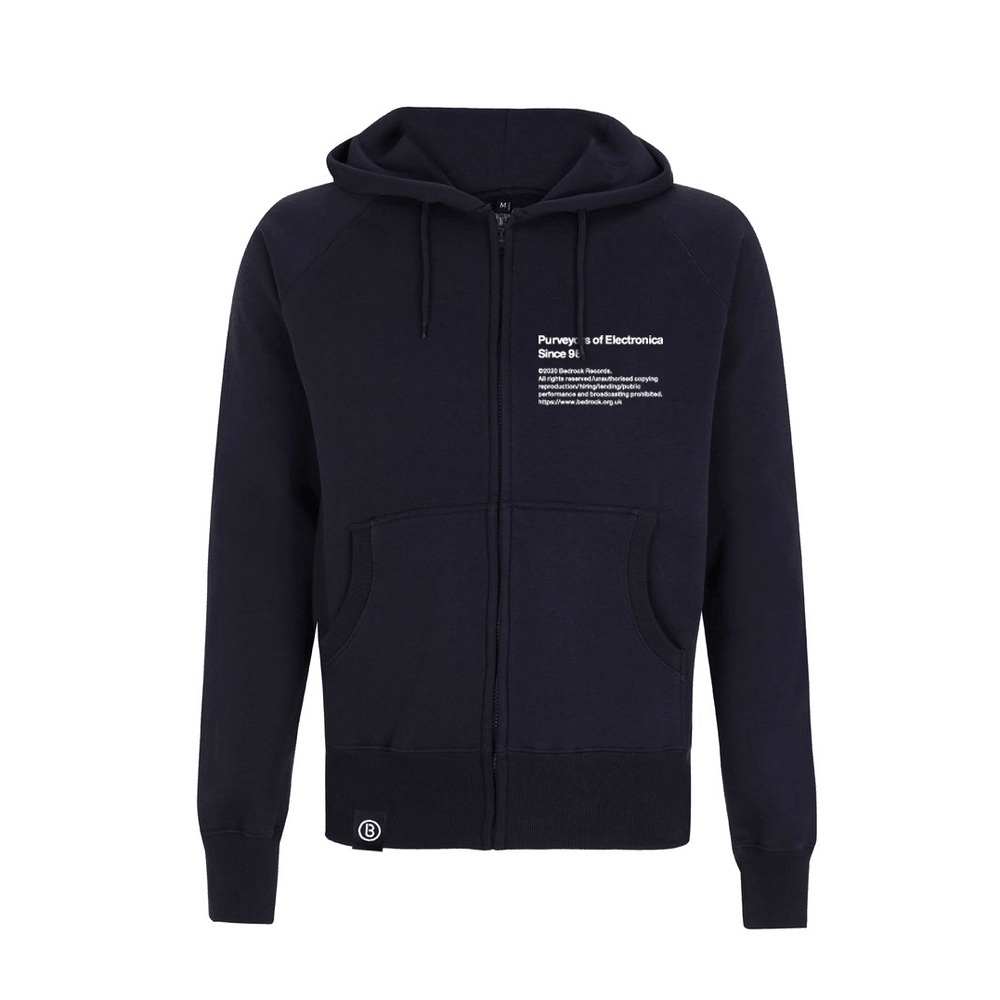 Buy Online Bedrock Music - BED_ELECTRONICA Navy Zip Hoody