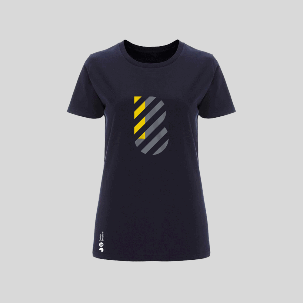 Buy Online Bedrock Music - Bunker Ladies T-Shirt Navy Blue