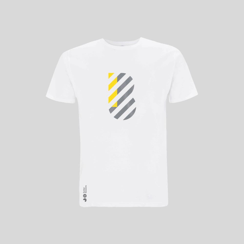 Buy Online Bedrock Music - Bunker Mens T-Shirt White