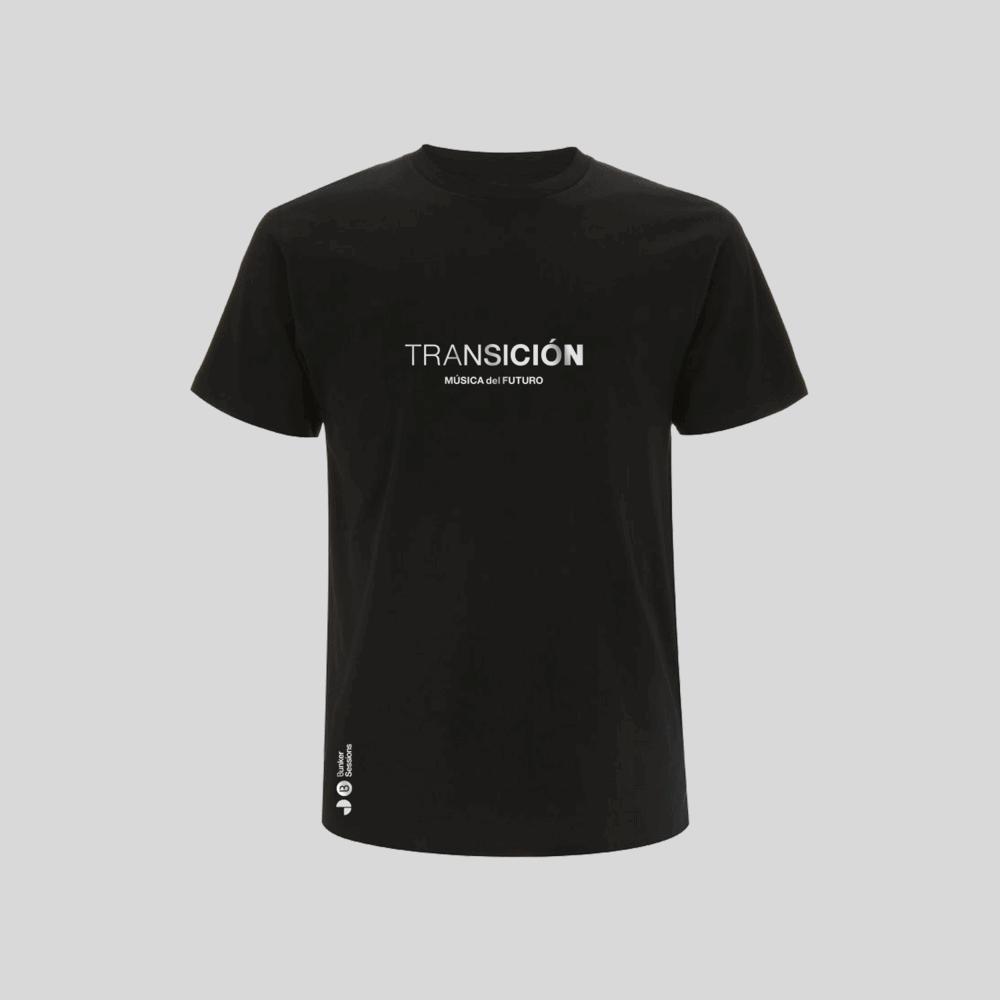 Buy Online Bedrock Music - Transición Mens T-Shirt Black (Inc. Sticker)