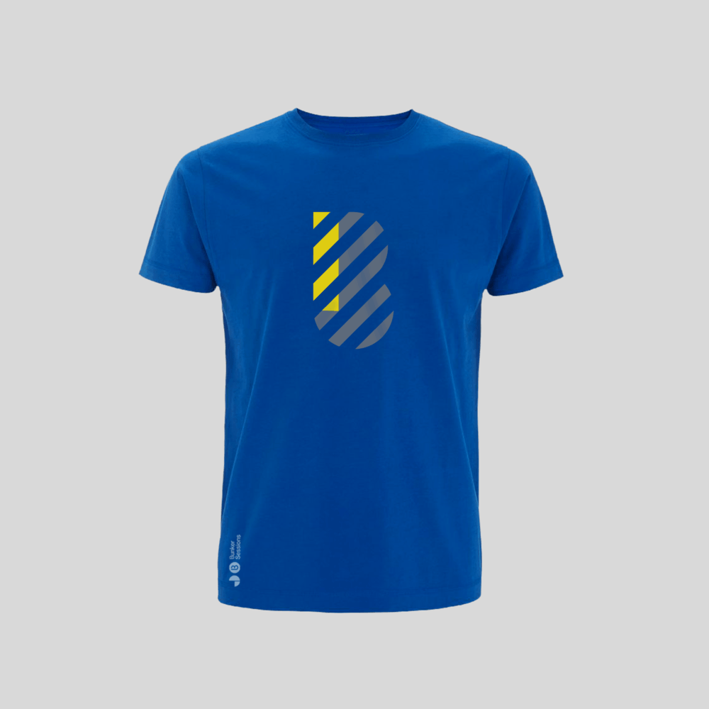 Buy Online Bedrock Music - Bunker Mens T-Shirt Blue