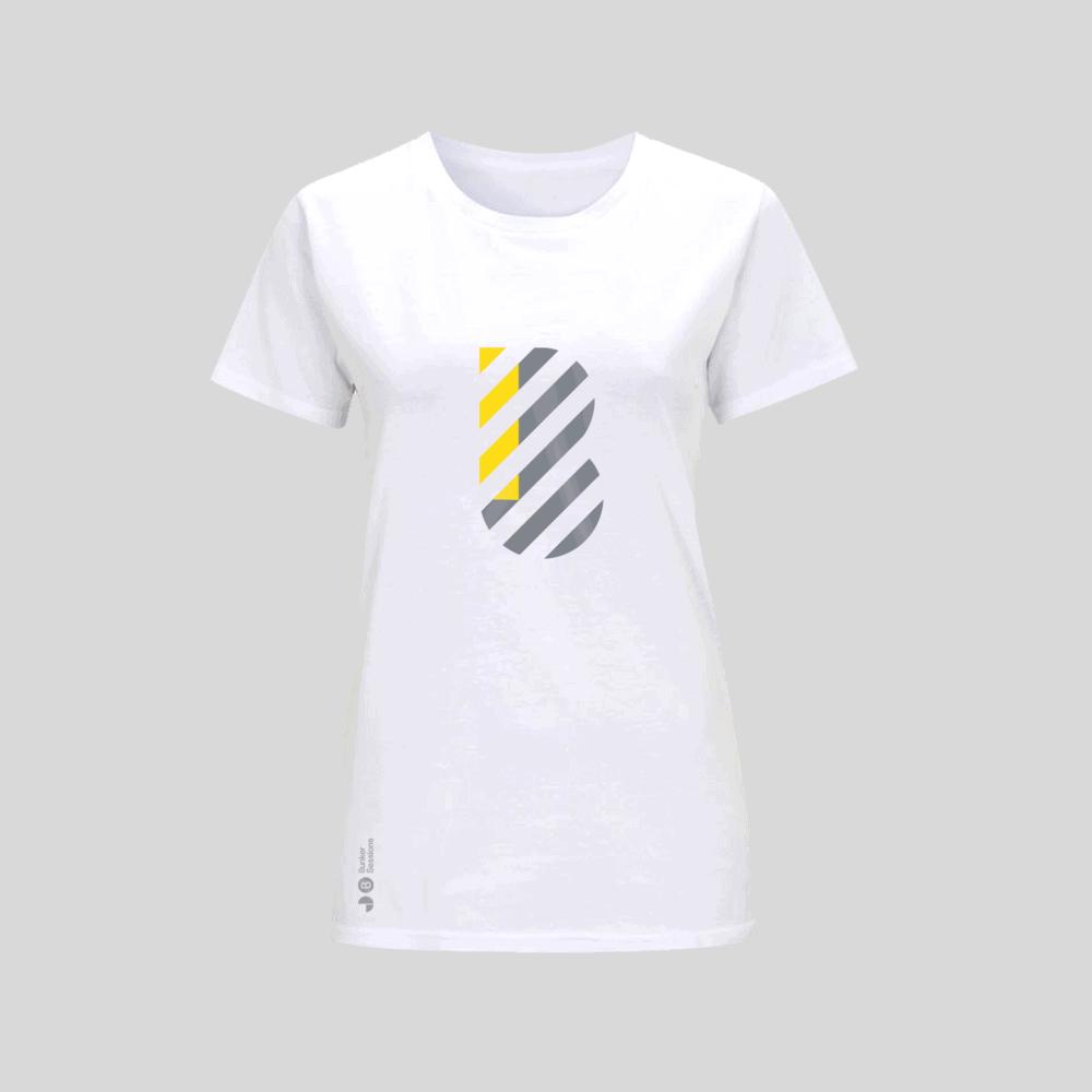 Buy Online Bedrock Music - Bunker Ladies T-Shirt White (Inc. Sticker)