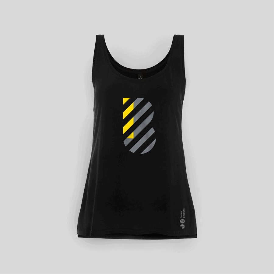 Buy Online Bedrock Music - Bunker Ladies Vest Black