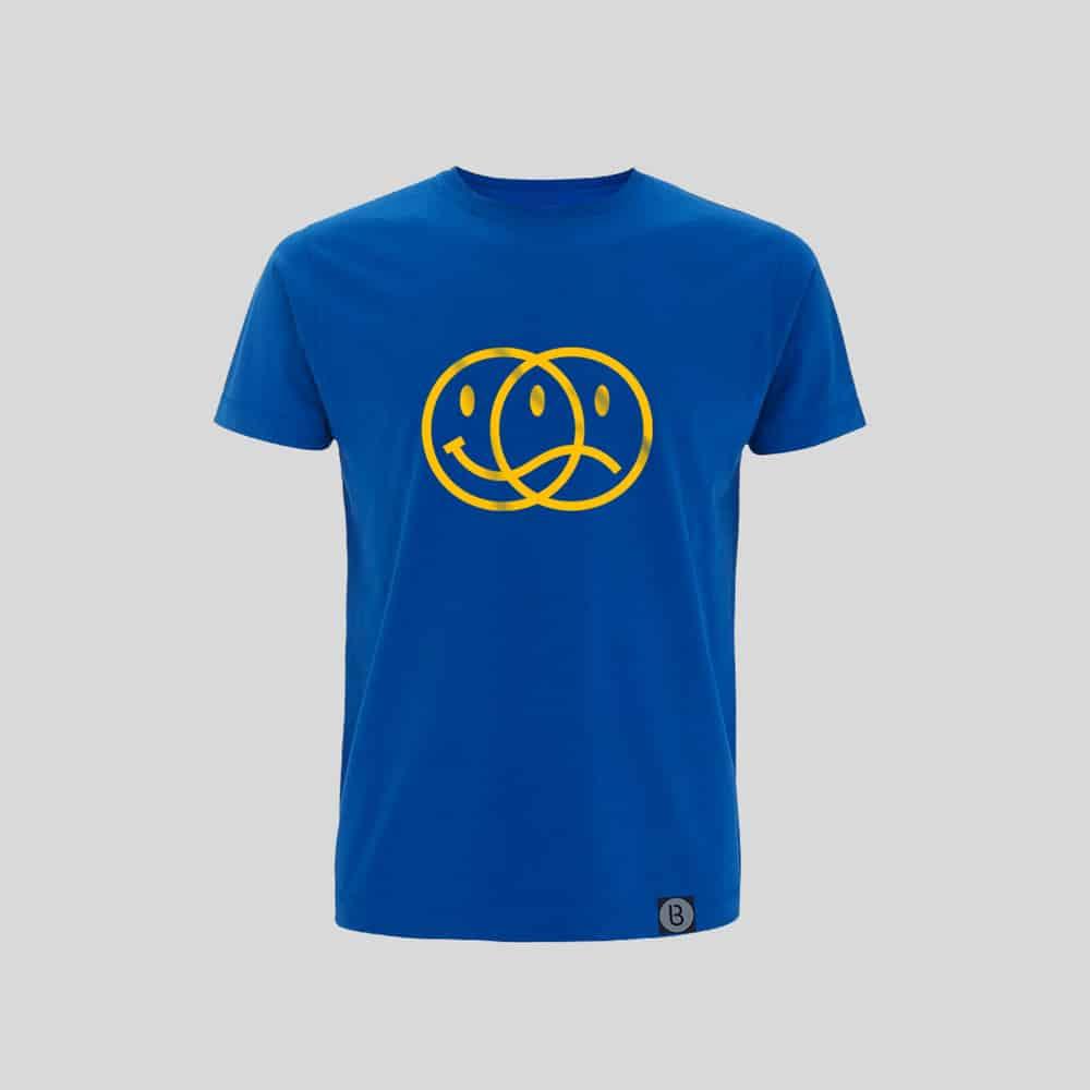 Buy Online Bedrock Music - Smiley 2020 Mens Blue T-Shirt