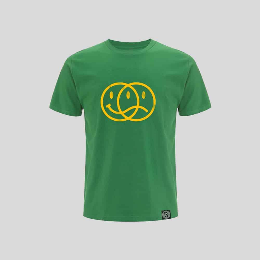 Buy Online Bedrock Music - Smiley 2020 Mens Green T-Shirt