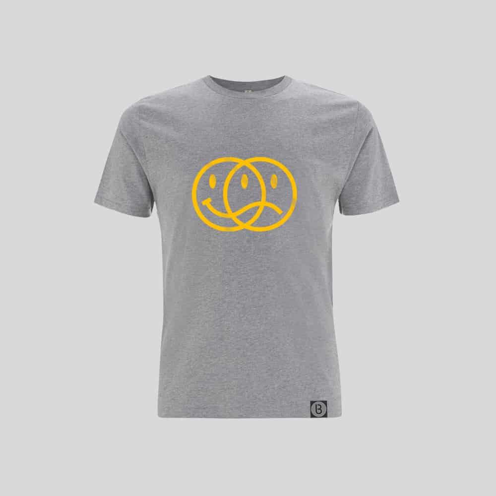 Buy Online Bedrock Music - Smiley 2020 Mens Grey T-Shirt