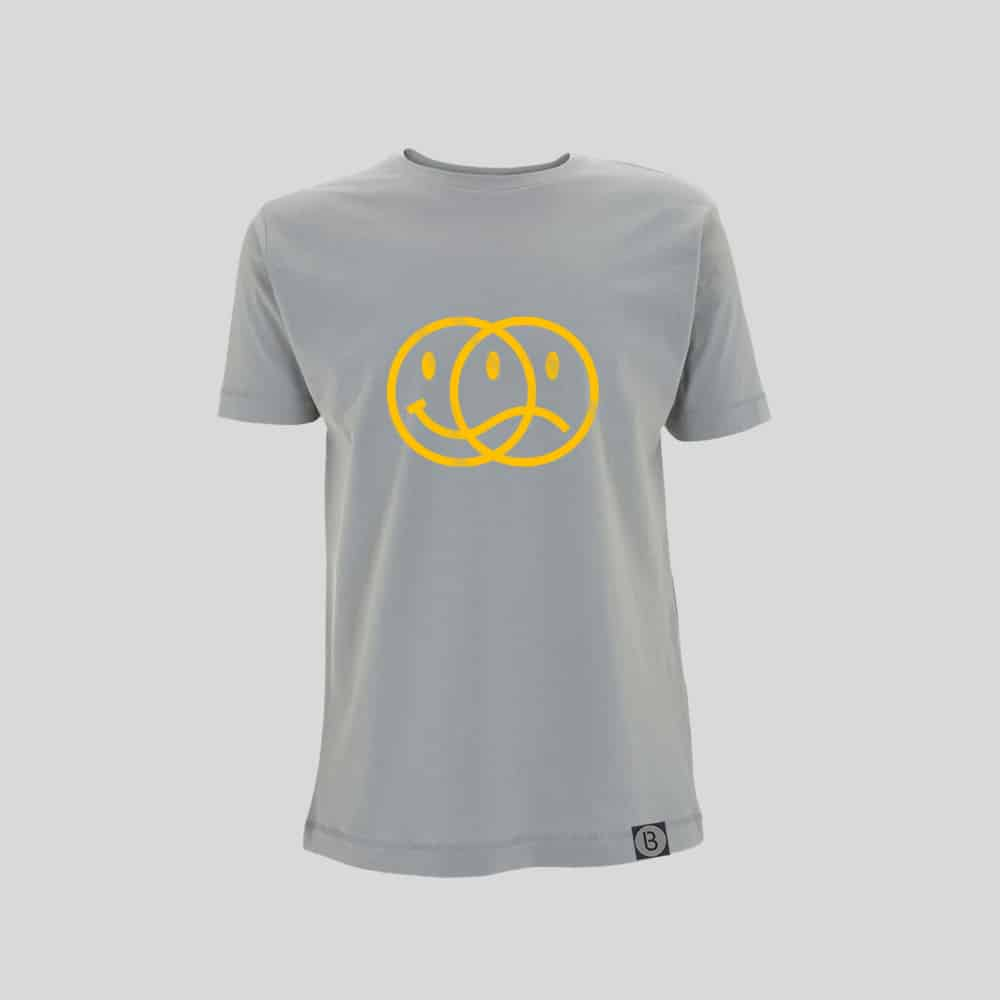 Buy Online Bedrock Music - Smiley 2020 Mens Light Grey T-Shirt