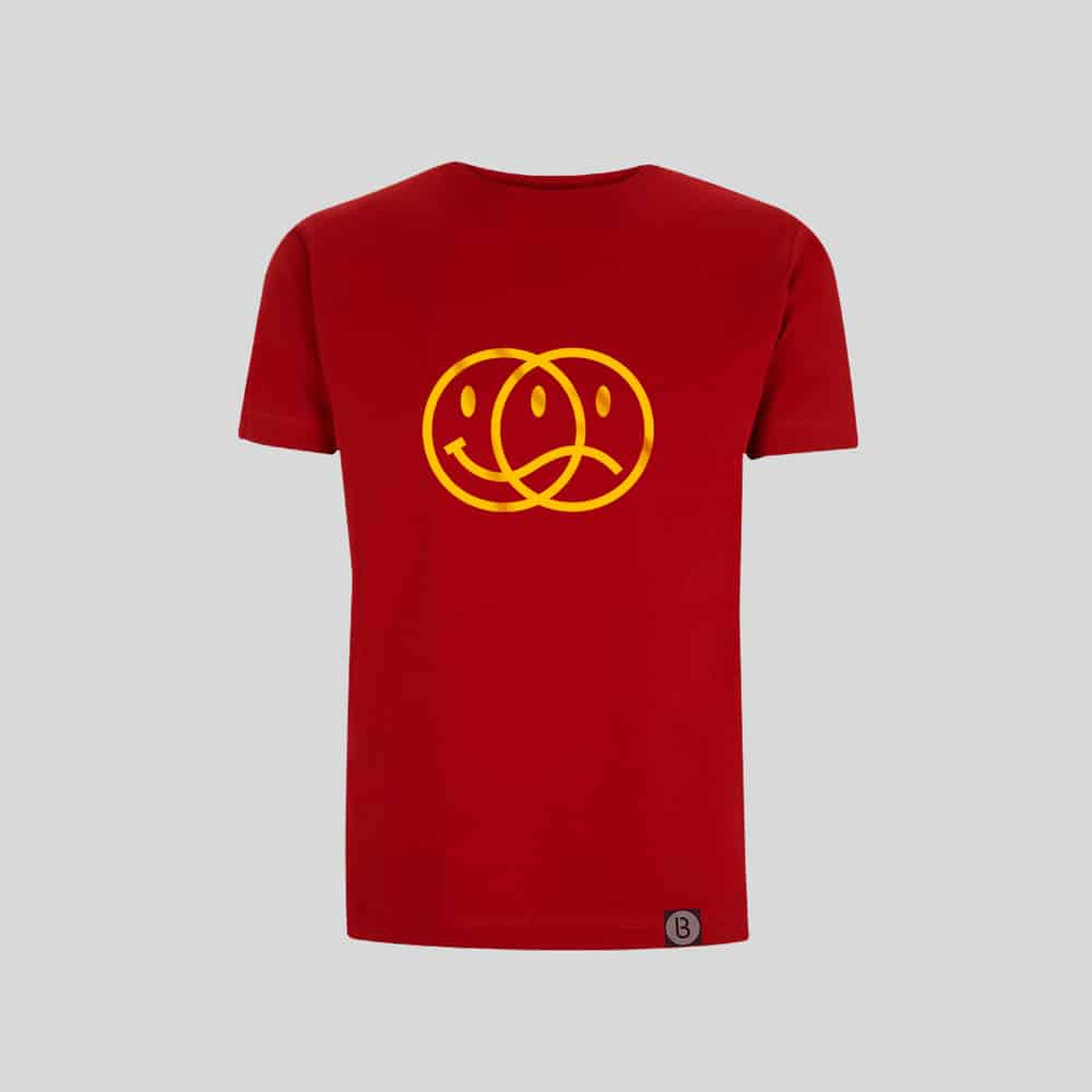 Buy Online Bedrock Music - Smiley 2020 Mens Red T-Shirt