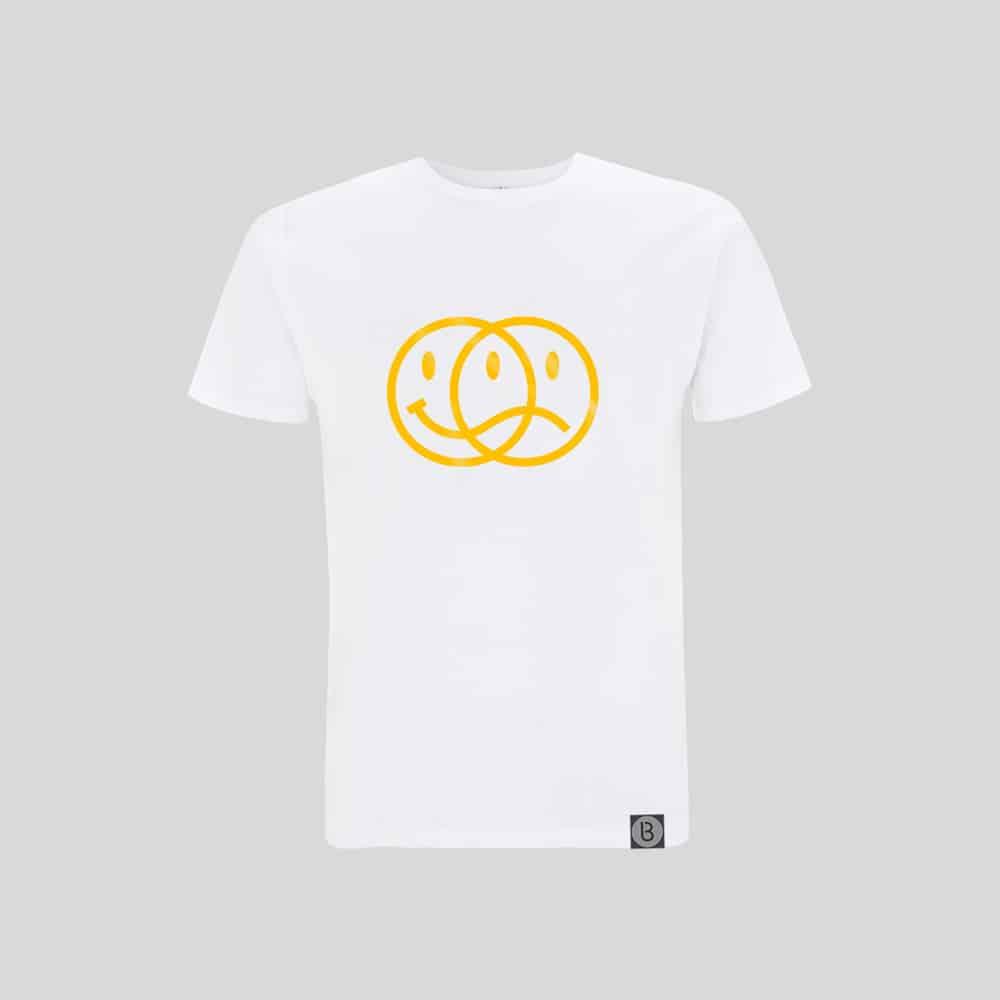 Buy Online Bedrock Music - Smiley 2020 Mens White T-Shirt