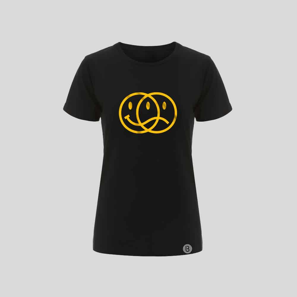 Buy Online Bedrock Music - Smiley 2020 Ladies Black T-Shirt