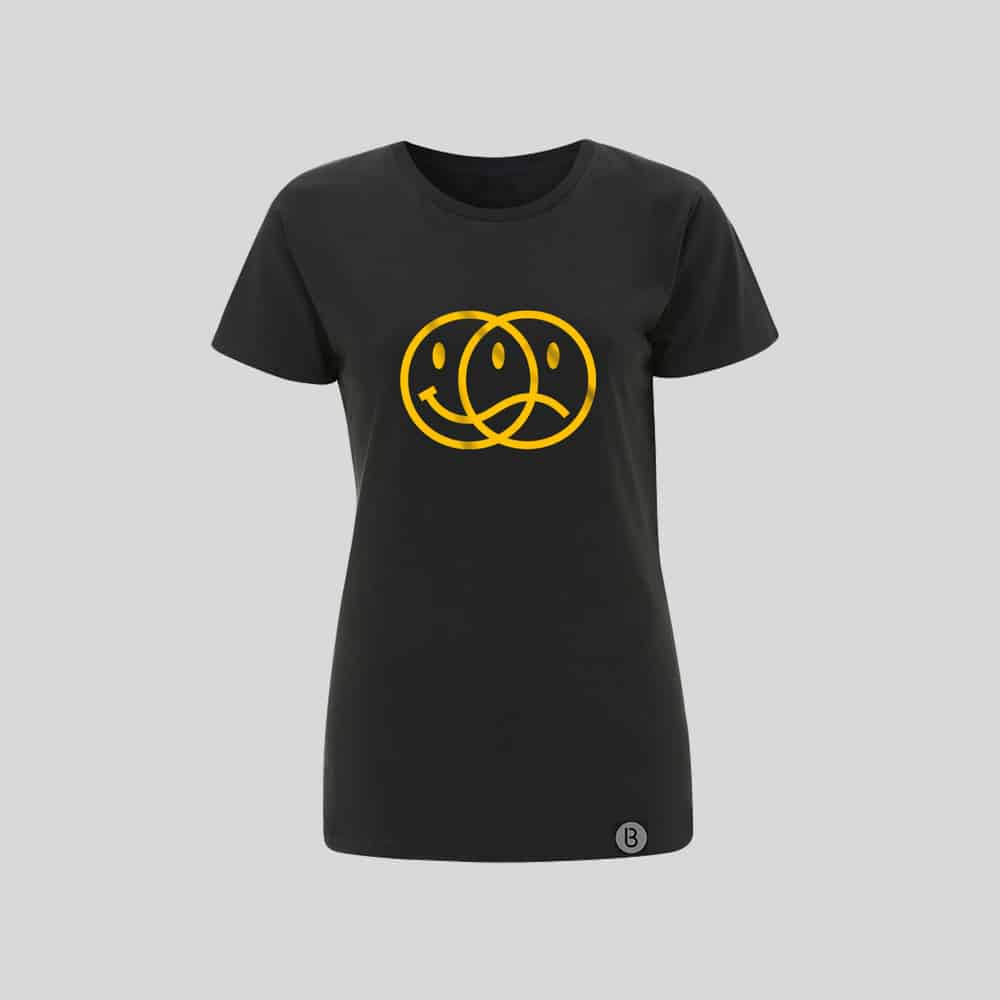 Buy Online Bedrock Music - Smiley 2020 Ladies Grey T-Shirt