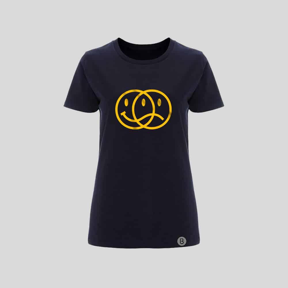 Buy Online Bedrock Music - Smiley 2020 Ladies Navy T-Shirt