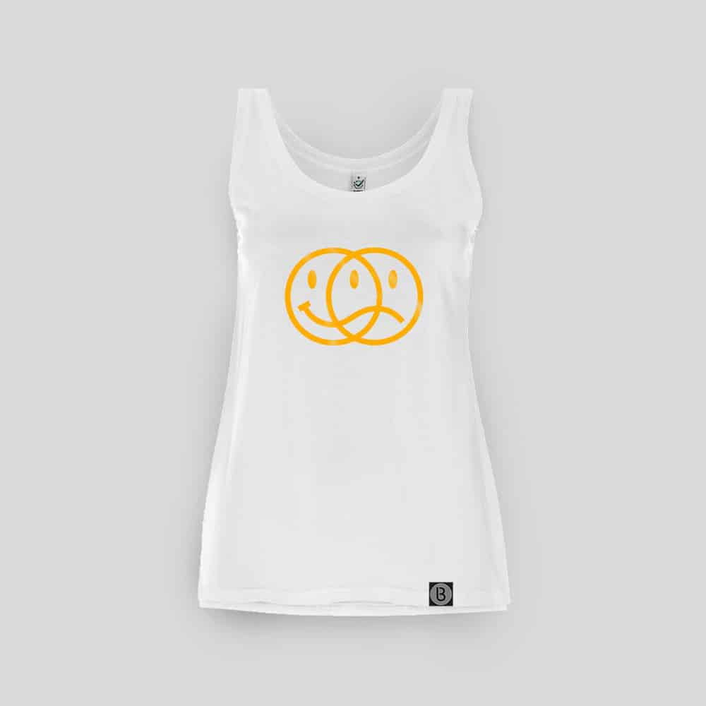 Buy Online Bedrock Music - Smiley 2020 Ladies White Vest