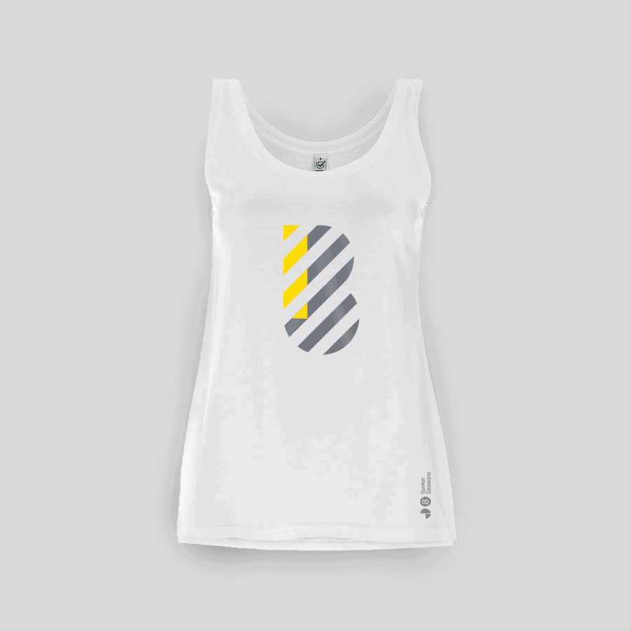 Buy Online Bedrock Music - Bunker Ladies Vest White