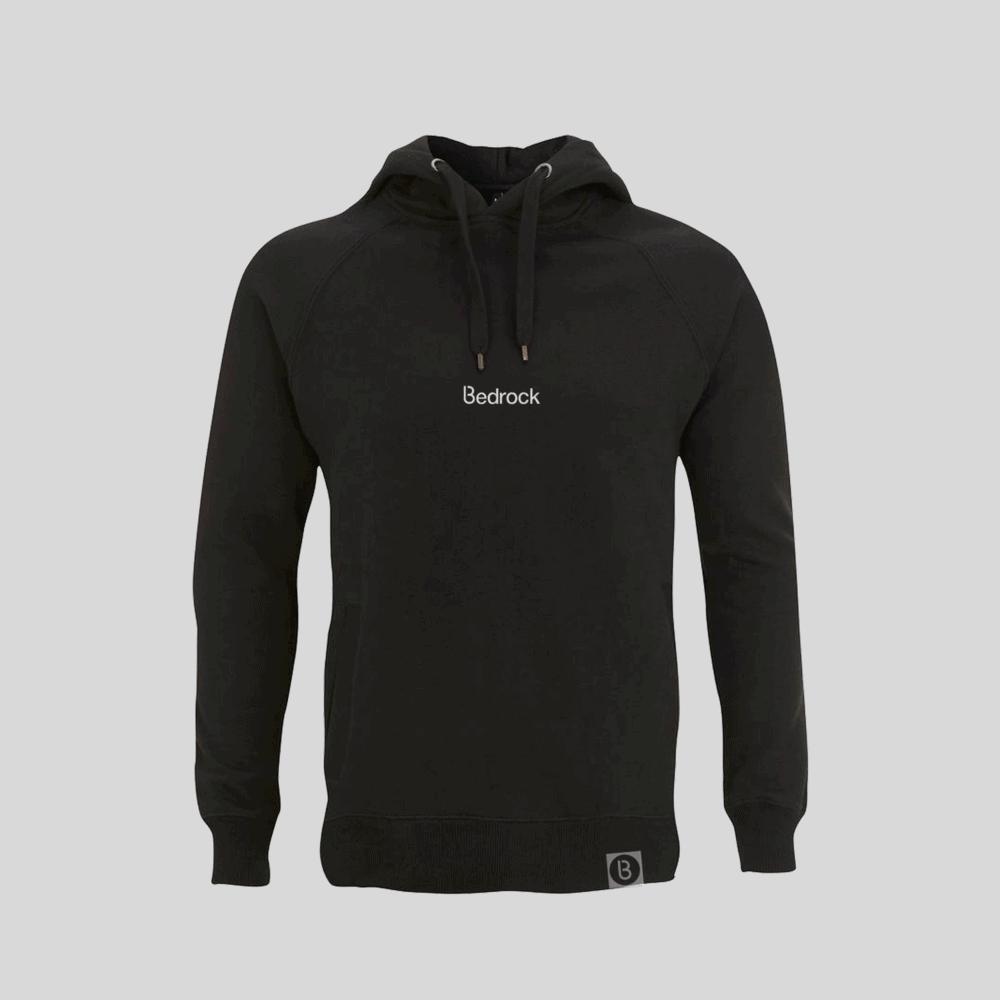 Buy Online Bedrock Music - Bedrock Embroidered Black Hoodie