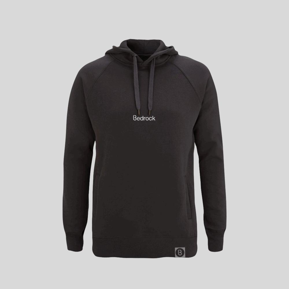 Buy Online Bedrock Music - Bedrock Embroidered Charcoal Grey Hoodie