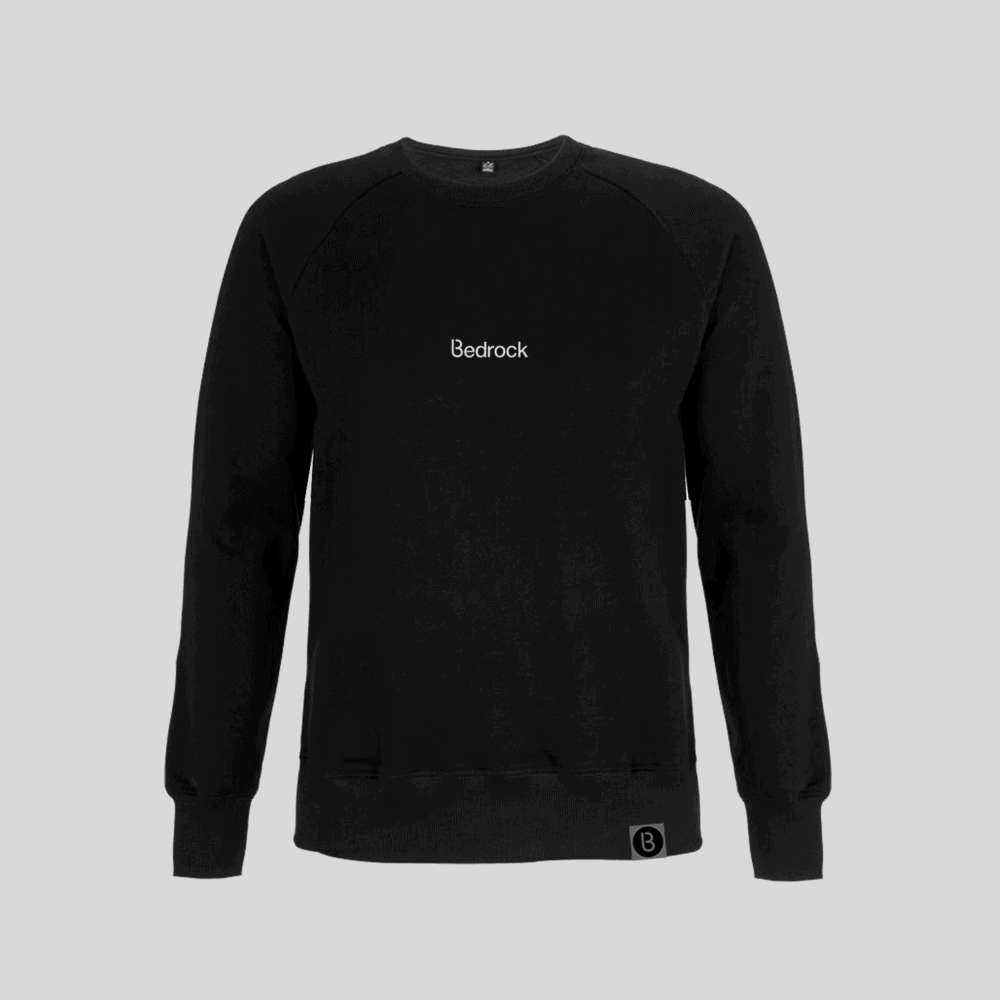 Buy Online Bedrock Music - Bedrock Embroidered Black Sweatshirt