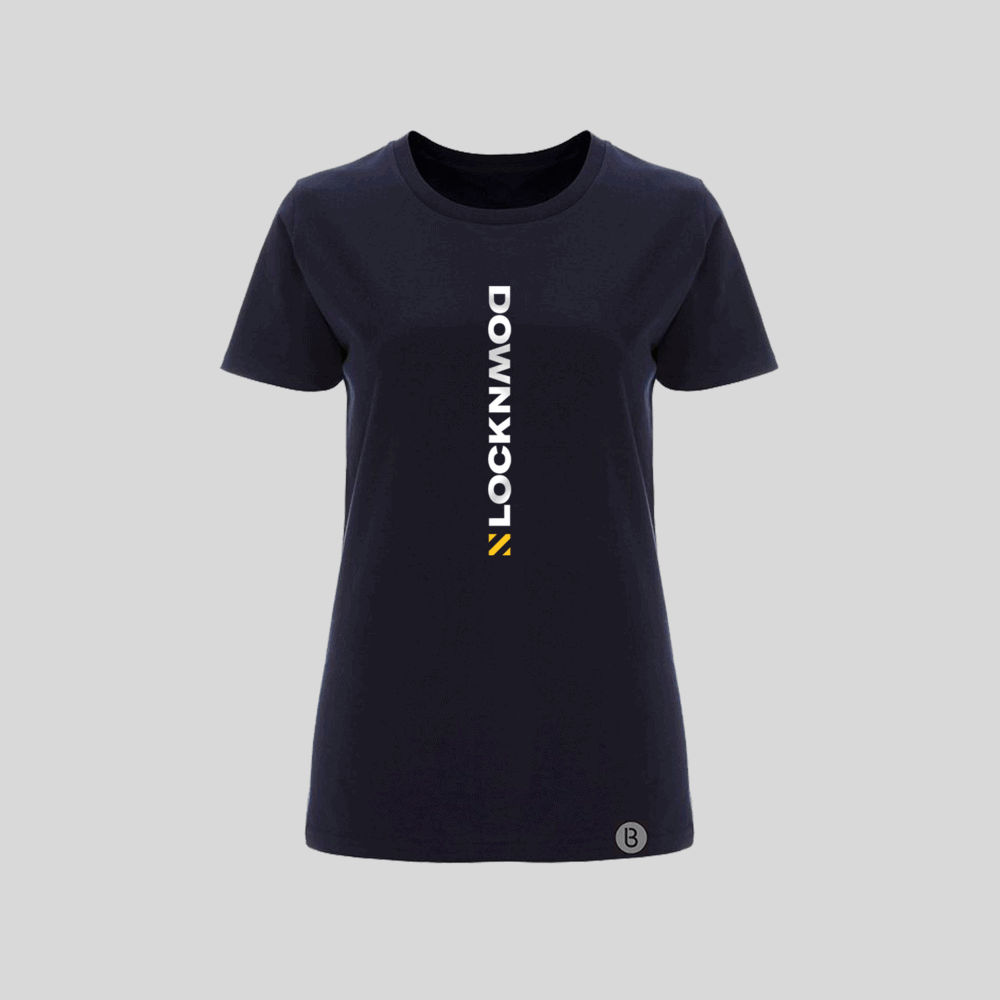 Buy Online Bedrock Music - Lockdown Navy Blue Ladies T-Shirt